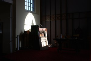 Sunlight on the pulpit